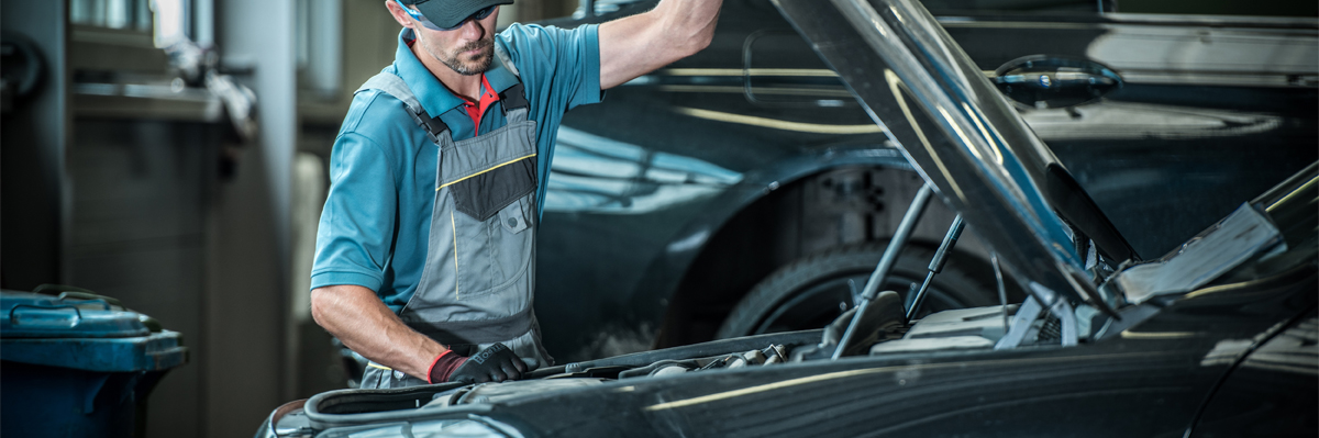 Mechanic servicing a vehicle - Car Servicing Brighton